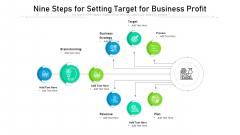Nine Steps For Setting Target For Business Profit Ppt Powerpoint Presentation Icon Portfolio PDF