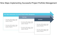 Nine Steps Implementing Successful Project Portfolio Management Ppt PowerPoint Presentation Layouts Diagrams Cpb Pdf
