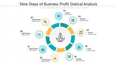 Nine Steps Of Business Profit Statical Analysis Ppt Powerpoint Presentation File Format PDF