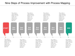 Nine Steps Of Process Improvement With Process Mapping Ppt PowerPoint Presentation Inspiration Templates
