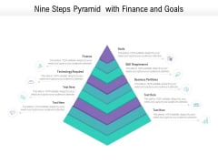 Nine Steps Pyramid With Finance And Goals Ppt PowerPoint Presentation File Portrait PDF