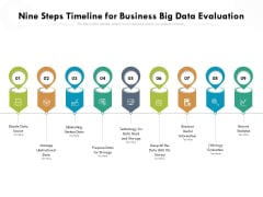 Nine Steps Timeline For Business Big Data Evaluation Ppt PowerPoint Presentation Gallery Graphics PDF