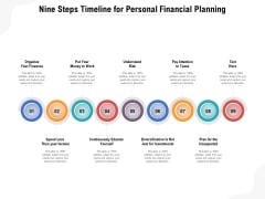 Nine Steps Timeline For Personal Financial Planning Ppt PowerPoint Presentation Gallery Topics PDF
