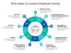 Nine Steps To Conduct Employee Survey Ppt PowerPoint Presentation File Samples PDF