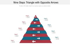 Nine Steps Triangle With Opposite Arrows Ppt PowerPoint Presentation File Portfolio PDF