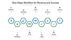 Nine Steps Workflow For Revenue And Success Ppt PowerPoint Presentation File Layout PDF