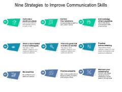 Nine Strategies To Improve Communication Skills Ppt PowerPoint Presentation Layouts Maker