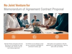 No Joint Venture For Memorandum Of Agreement Contract Proposal Ppt PowerPoint Presentation Infographics Rules