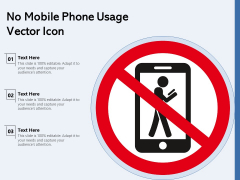 No Mobile Phone Usage Vector Icon Ppt PowerPoint Presentation File Designs PDF