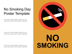 No Smoking Day Poster Template Ppt PowerPoint Presentation Inspiration Vector PDF
