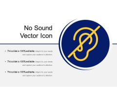 No Sound Vector Icon Ppt PowerPoint Presentation Gallery Outfit PDF
