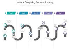 Node Js Computing Five Year Roadmap Demonstration