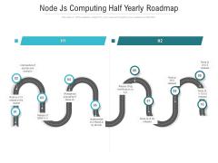 Node Js Computing Half Yearly Roadmap Icons