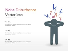 Noise Disturbance Vector Icon Ppt PowerPoint Presentation Professional Images