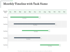 Non Current Assets Reassessment Monthly Timeline With Task Name Brochure PDF