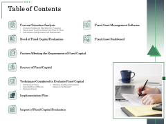 Non Current Assets Reassessment Table Of Contents Portrait PDF