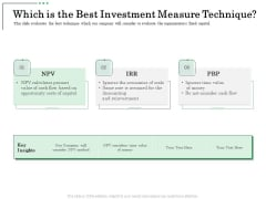 Non Current Assets Reassessment Which Is The Best Investment Measure Technique Portrait PDF