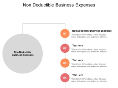 Non Deductible Business Expenses Ppt PowerPoint Presentation Infographics Structure Cpb Pdf