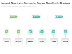 Non Profit Organization Sponsorship Program Three Months Roadmap Structure