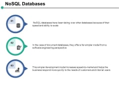 Nosql Databases Ppt PowerPoint Presentation Portfolio Graphic Tips