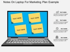 Notes On Laptop For Marketing Plan Example Powerpoint Template