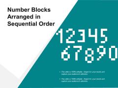 Number Blocks Arranged In Sequential Order Ppt PowerPoint Presentation Ideas Designs Download