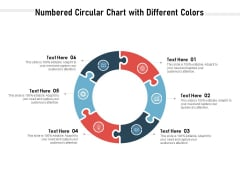 Numbered Circular Chart With Different Colors Ppt PowerPoint Presentation Gallery Good PDF