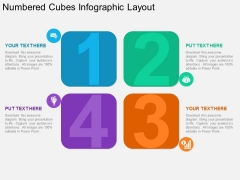 Numbered Cubes Infographic Layout Powerpoint Template