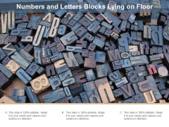 Numbers And Letters Blocks Lying On Floor Ppt PowerPoint Presentation Infographic Template Model