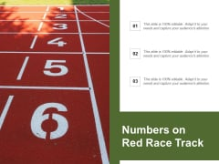Numbers On Red Race Track Ppt PowerPoint Presentation Styles Ideas