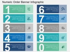 Numeric Order Banner Infographic Powerpoint Template