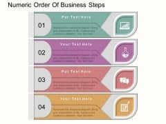 Numeric Order Of Business Steps Powerpoint Template