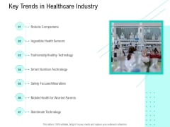Nursing Administration Key Trends In Healthcare Industry Ppt Infographics Guide PDF