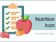 Nutrition Icon Cherry Fruits Ppt PowerPoint Presentation Complete Deck