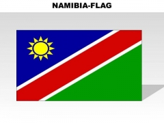 Namibia Country PowerPoint Flags