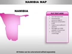Namibia PowerPoint Maps