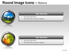 Nature Icons For PowerPoint Presentation Slides