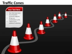 Navigating Obstacles Changing Direction Traffic Cones PowerPoint Slides