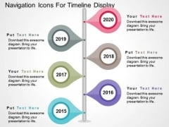 Navigation Icons For Timeline Display PowerPoint Templates