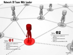 Network Of Team With Leader PowerPoint Templates