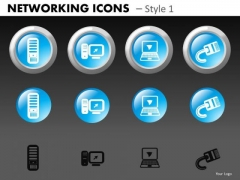 Networking Icons Style 1 Ppt 2