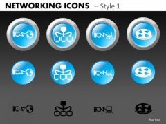 Networking Icons Style 1 Ppt 4