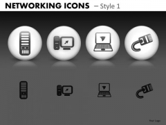 Networking Icons Style 1 Ppt 6