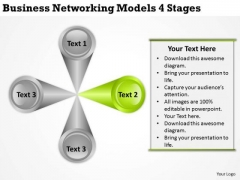 Networking Models 4 Stages Companies That Write Business Plans PowerPoint Templates