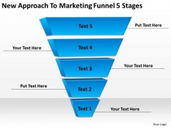 New Approach To Marketing Funnel 5 Stages Business Plans Online PowerPoint Templates