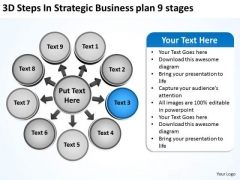 New Business PowerPoint Presentation Plan 9 Stages Circular Chart Templates