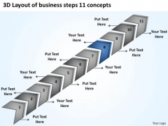 New Business PowerPoint Presentation Steps 11 Concepts Ideas Templates