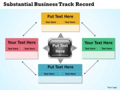 New Business PowerPoint Presentation Track Record Circular Flow Layout Network Slides