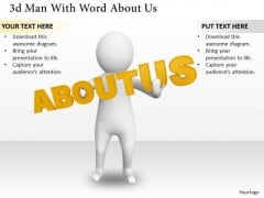 New Business Strategy 3d Man With Word About Characters