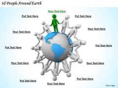 New Business Strategy 3d People Around Earth Concepts